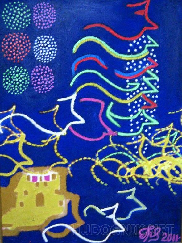 """""""Венецианский карнавал"""" (""""Venetian carnival"""") абстракция фантазия образ карнавал ночь"""