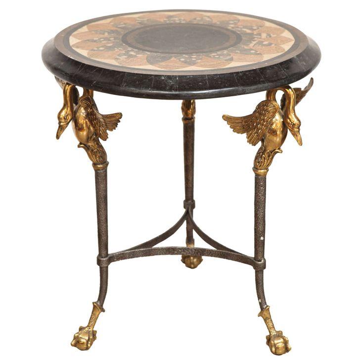 Vintage Maitland Smith Swan Table
