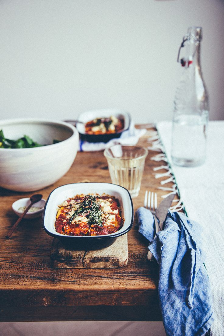 Butternut and Kale Lasagne with Quinoa and Red Pepper Sugo via Nourish Atelier
