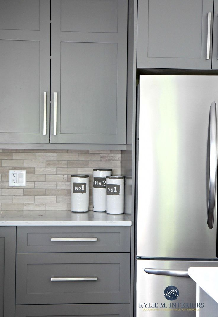 Best Benjamin Moore Amherst Gray Painted Cabinets Driftwood 400 x 300