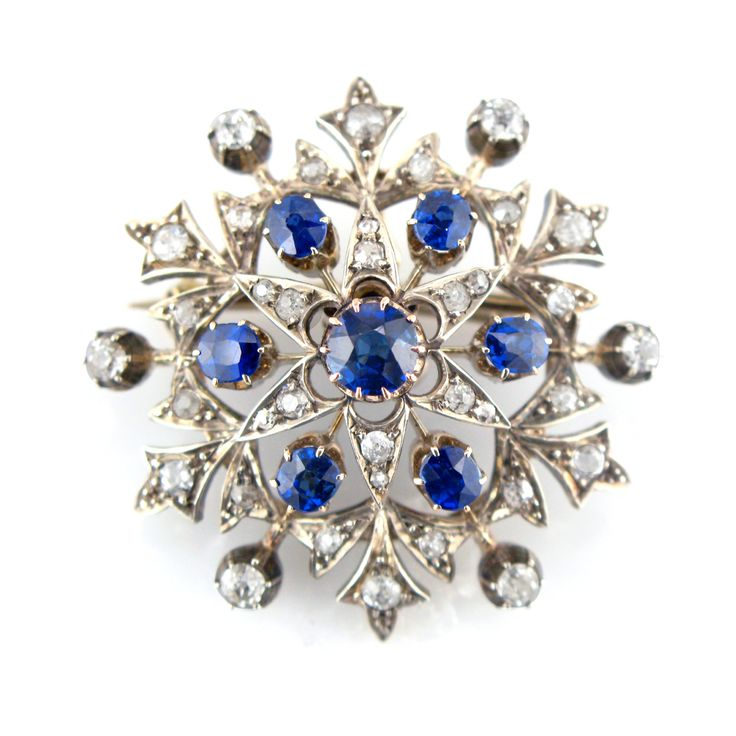 Antique Brooch - Diamond & Sapphire Victorian Brooch :: Trade Services | Jewellery Specialists | Holts - London