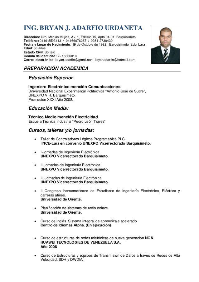 Modelo De Curriculum Vitae Ingeniero Electronico Modelo De Curriculum Vitae Curriculum Vitae Ingeniero Modelos De Curriculum Vitae Curriculum Vitae