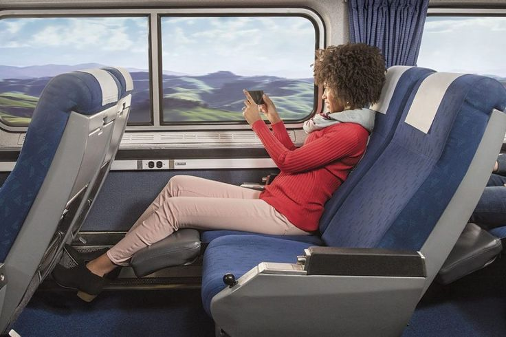 Amtrak Ads Call Out Air Travel While Execs Mull Basic Economy  Amtrak is trying to capture new customers who are sick of flying uncomfortably Amtrak's latest ad campaign is pictured here. Amtrak  Skift Take: Amtrak's new videos speak the truth about the e