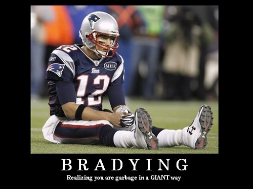 Say goodbye to Tebowing..say hello to Bradying. LOL! There's a whole site devoted to this pose: http://bradying.com/
