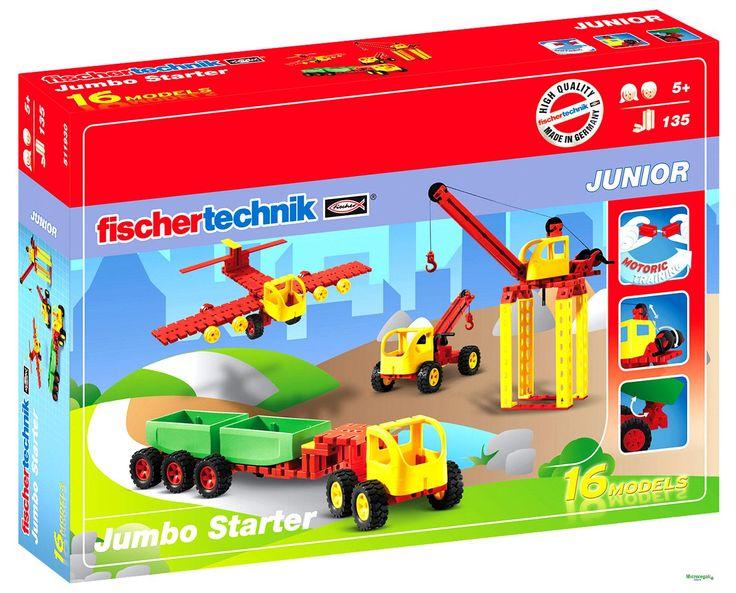 FischerTechnik 511930 Set Costruzioni Jumbo Starter 16 Modelli per bambini. Età 5 A +
