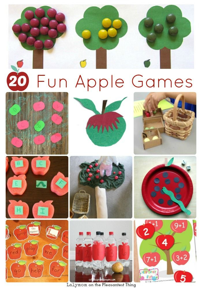 Fall is here - try these 20 Fun Apple Games for Kids from Lalymom on PleasantestThing.com