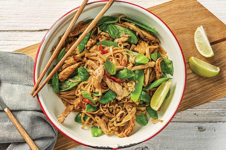Thai Pork and Basil Drunken Noodles Recipe | HelloFresh