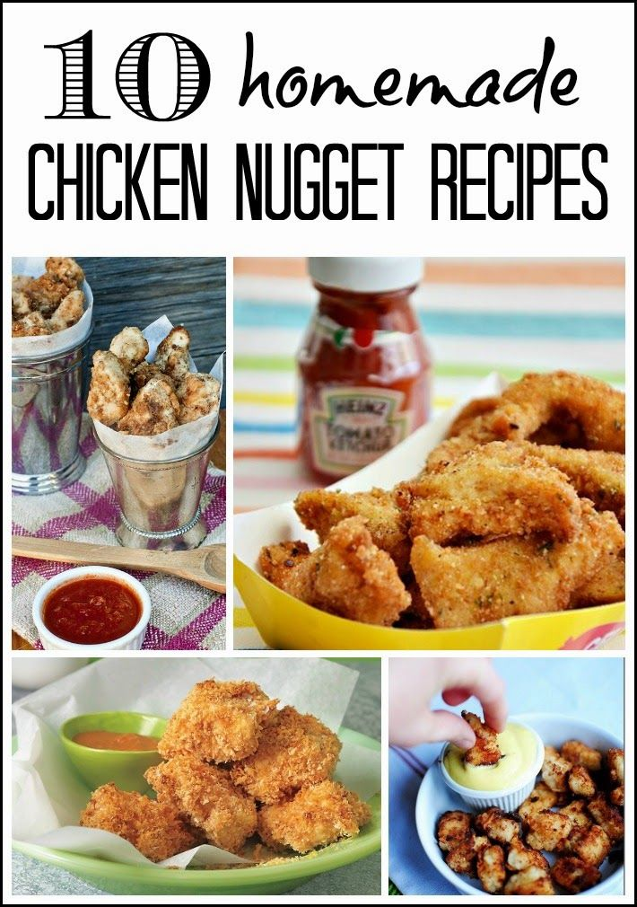 10 Homemade Chicken Nugget Recipes #recipes #food #chickennuggets #dinner #kidsmeals #kidsfood #homemade #healthyrecipes #healthyfood