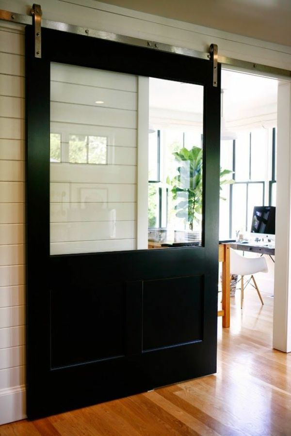 la porte combinée bois et verre