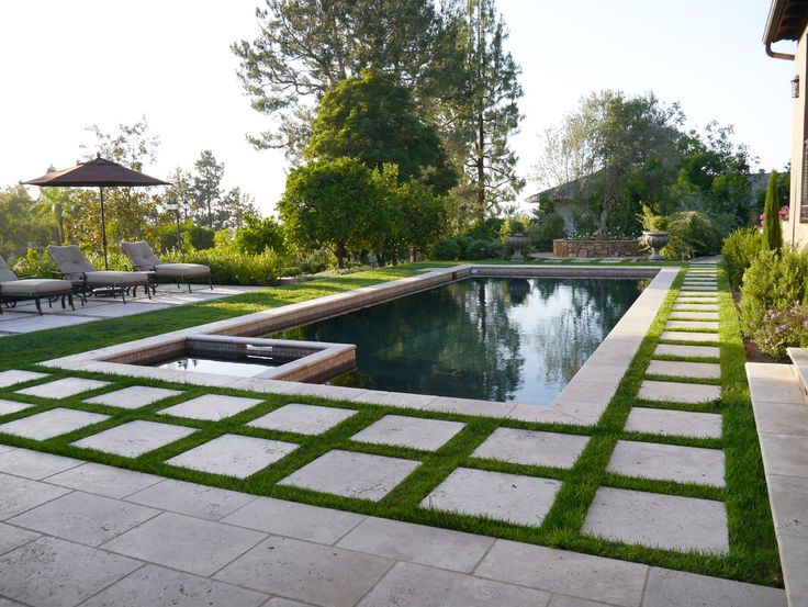 Fabulous Travertine Pavers decorating ideas for Pool Mediterranean design ideas with Fabulous concrete contemporary landscaping