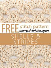 Shells and Stripes Stitch Pattern.  Download here, courtesy of www.crochetmagazine.com.