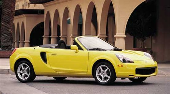 #yellow 2001 Toyota MR2 Spyder