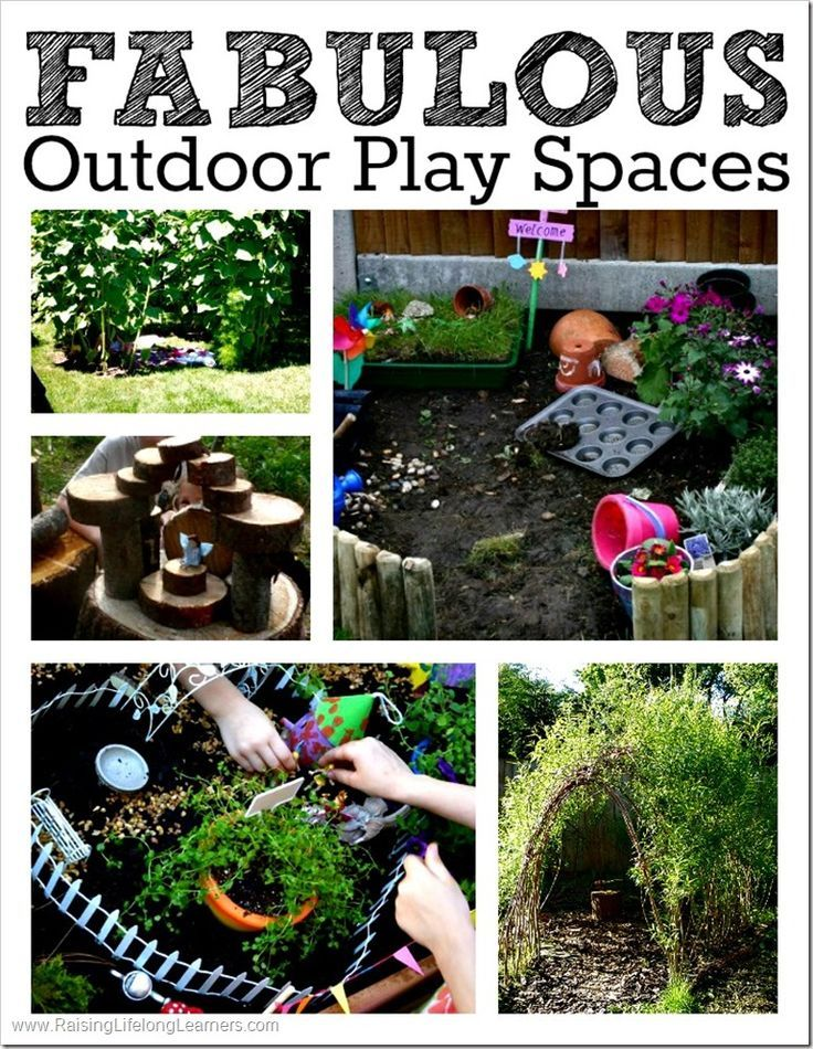 Fabulous Outdoor Play Spaces to make this summer and encourage imaginative, outside, creative play.
