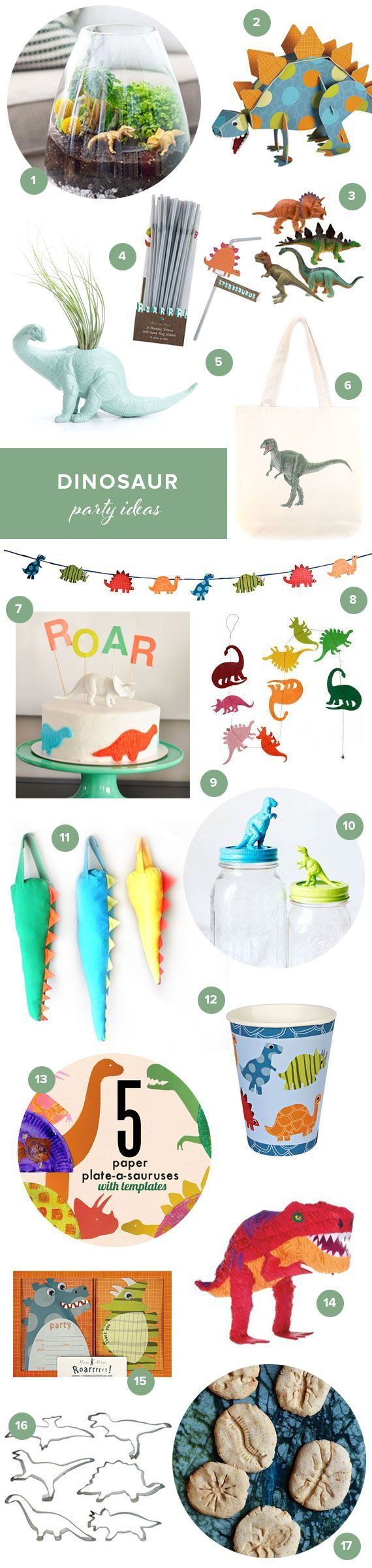 Dinosaur kids party ideas (100 Layer Cakelet)