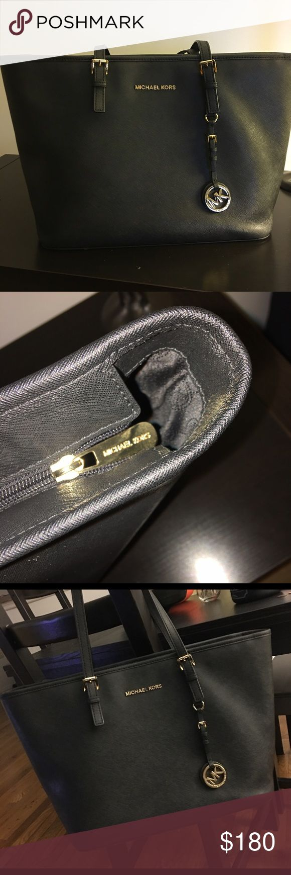 Michael Kors Tote (Authentic) -Gently worn Saffiano Leather Michael Kors Tote, interior features 1 zip pocket, 3 slip pockets, 1 cell phone pocket and 1 key finder. Zip closure, gold toned hardware and logo charm. Less than a year old. Promise you will not be disappointed. In great condition! Michael Kors Bags Totes