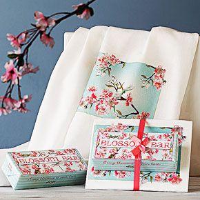 Cherry Blossom Soap and Towel Set