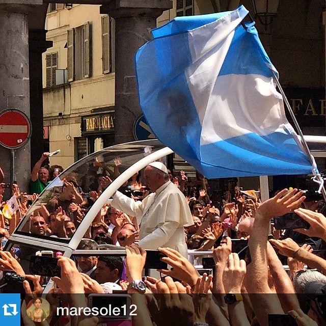 cittaditorino #Repost maresole12 #benvenuTofrancesco #torino #papafrancesco
