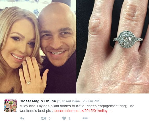 Katie Piper's Halo Ring