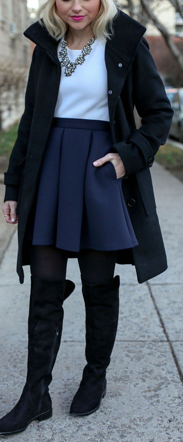 0231de46f715 How to style Over The Knee boots when you're petite - Hot pInk Beanie -  Poor Little It Girl