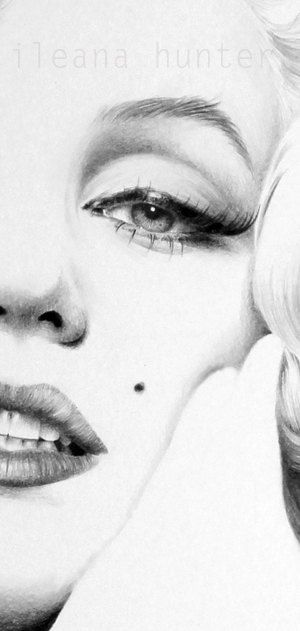 Marilyn Monroe Pencil Drawing Fine Art Signed by IleanaHunter