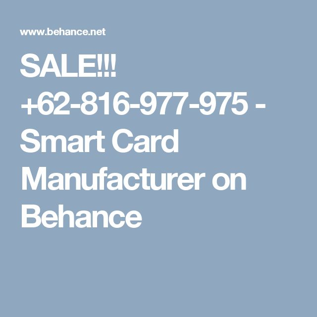 SALE!!! +62-816-977-975 - Smart Card Manufacturer on Behance
