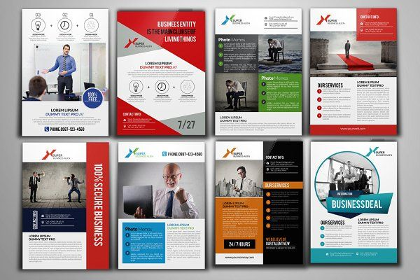 100 Fresh Business Flyers Bundle by Psd Templates on @creativemarket