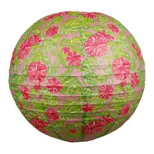 Lilly Pulitzer Paper Lanterns - Chum Bucket by Lilly Pulitzer. $9.00. Brighten any room with this chic Lilly Pulitzer paper lantern in the Chum Bucket print! Add some pink and green to any space and let the party begin!Includes hanging line.18 inch Diameter