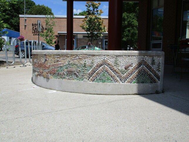 Antigonish Town and County Library - mosaic by local artist Nancy Turniawan to honor Mi'kmaq, Antigonish, NS