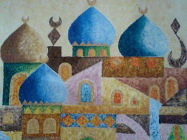 Iraqi art | City of Letters' by Thamer Khafaji