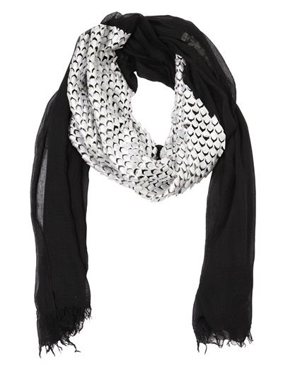 CUTULI CULT - MODAL & LASER-CUT LEATHER SCARF - LUISAVIAROMA - LUXURY SHOPPING WORLDWIDE SHIPPING - FLORENCE
