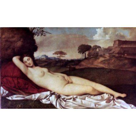 Sleeping Venus ca 1510 Giorgione (1476-1510 Italian) Oil on canvas Staatliche Kunstsammlungen Dresden Germany (Gemaldegalerie Alte Meister) Canvas Art - Giorgione (18 x 24)