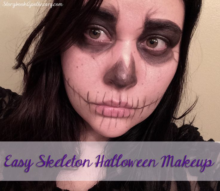 25+ best ideas about Easy skeleton makeup on Pinterest - Quick And Easy Halloween Makeup