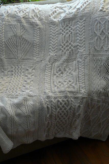 Sa 02 Sampler Aran Afghan Pattern By Tammy Eigeman