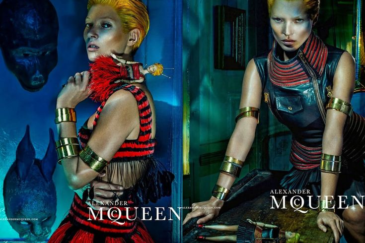 Alexander McQueen spring 2014: In this Steven Klein-shot campaign, Kate Moss — with a bright orange crop — eerily appears with a voodoo doll in her own likeness. It's a bit dark, a bit futuristic and VERY badass.