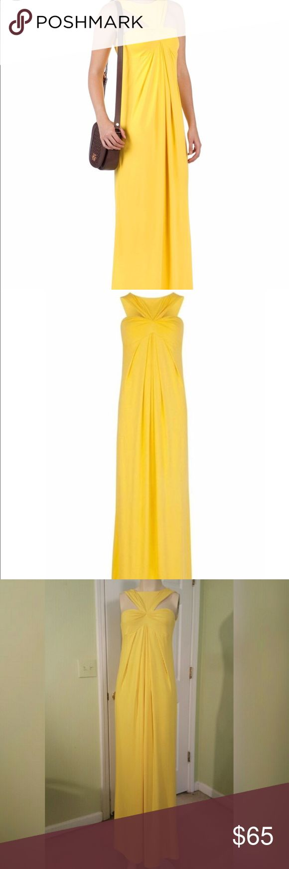 Ted Baker Yellow Oro Maxi Dress Tag cut as it was purchased from sample sale. In perfect condition. Beautiful spring or summer dress and super flowy and comfortable. UK size 1 = US 4 Ted Baker Dresses Maxi