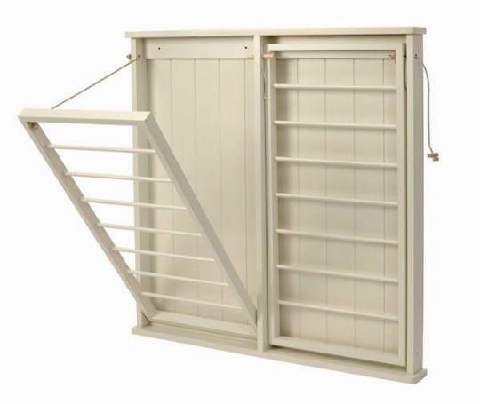 Настенная сушилка для белья на балкон (51 фото): выдвижная и складная бельевая балконная модель