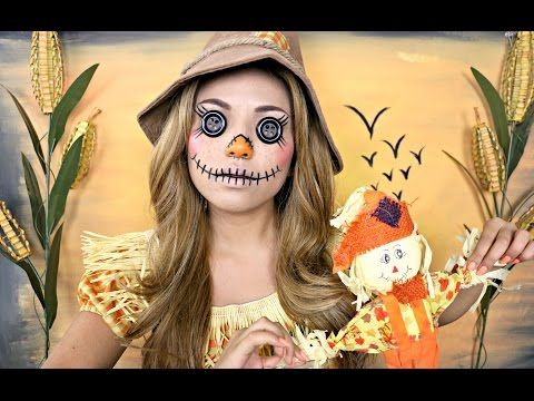 Creepy Scarecrow Makeup (Halloween 2015) - YouTube