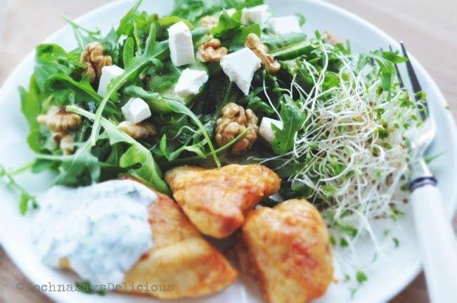 Cucumber + walnuts salad