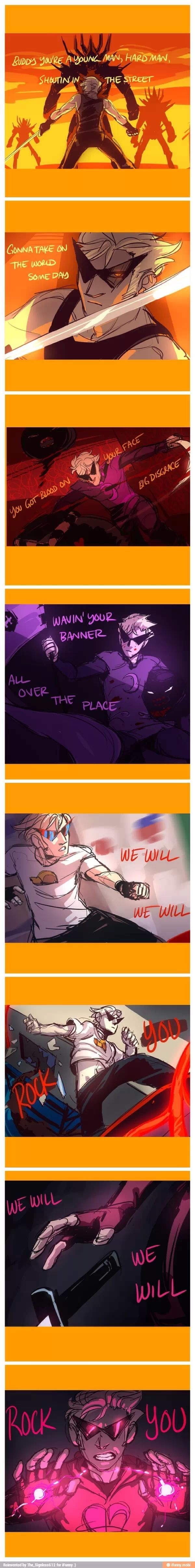 Homestuck and Queen?? :DD This is just beautiful!!!!! Empty feet drew this I think