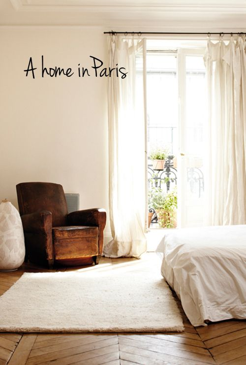 a homeLights, Curtains, Cleaning, Floors, Paris Apartments, Club Chairs, White Bedrooms, Armchairs, Leather Chairs