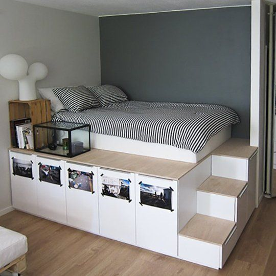Best 25 small space bedroom ideas on pinterest small space storage small space and small spaces - Small spaces storage solutions image ...