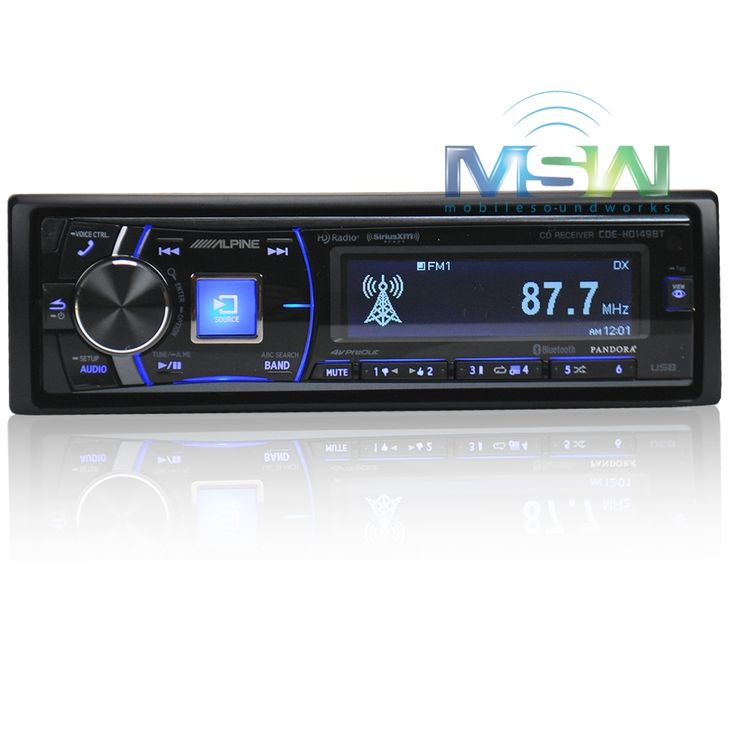 Alpine CDE-HD149BT In-Dash CD/MP3/USB Car Stereo Receiver w/ Bluetooth, HD Radio, SiriusXM Ready & Premium LCD Display