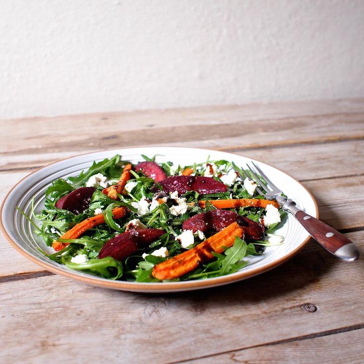 Laskominy od Maryny: Salát z pečené zeleniny s rukolou a Lučinou