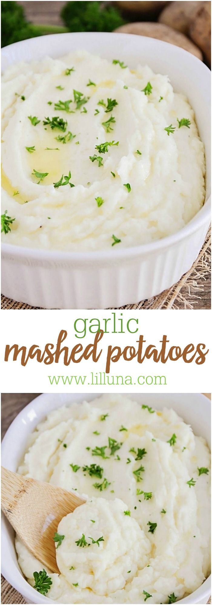 Yummy and Easy Garlic Mashed Potatoes. Creamy potatoes with a hint of garlic! Perfect side dish!