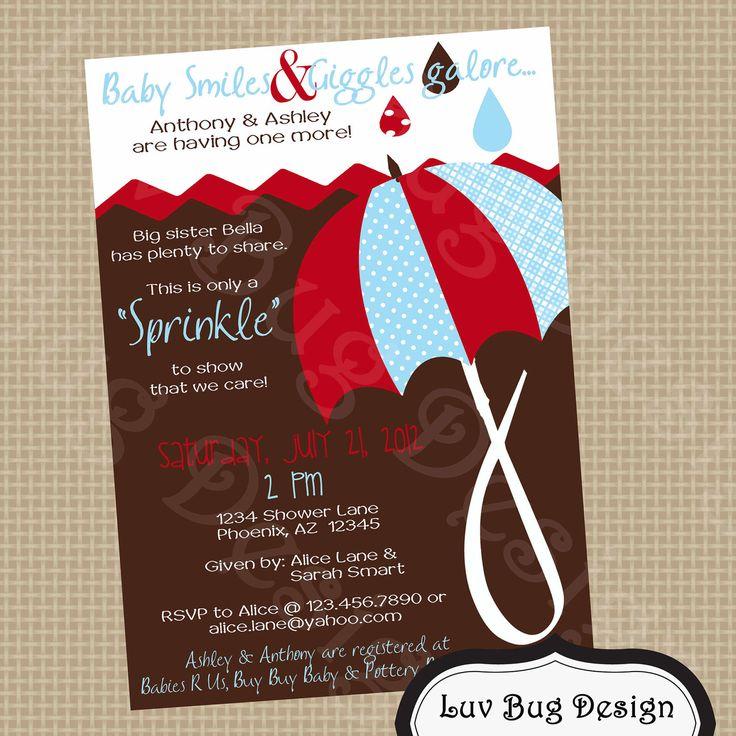 PRINTABLE Sprinkle Themed Baby Shower Invitation-Printable party invitations by Luv Bug Design. $14.00, via Etsy.