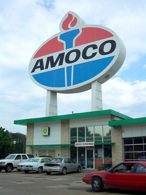 World's Largest Amoco Sign - St. Louis Landmark! Clayton Rd