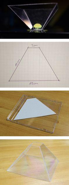 Bastle dein eigenes Hologram aus durchsichtigen CD-Hüllen. #3D #DYI #Projektor #Basteln #Digital #digitec