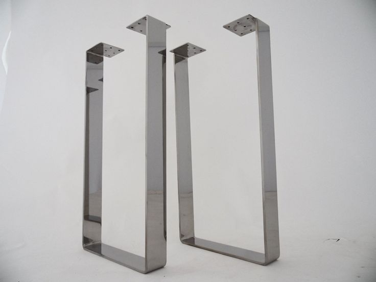 """28"""" X 20"""" Table Legs, Flat Steel Table Legs, Stainless Steel Set(2)Custom metal dining table legs  for your restaurant ,offices or your dining room .Pick height ,finish or sizes ,design your product what you want."""