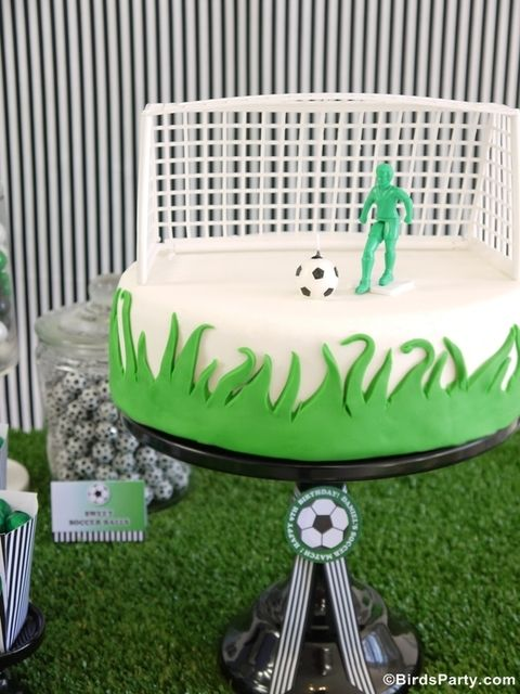 Soccer Birthday Party cake!  See more party ideas at CatchMyParty.com!