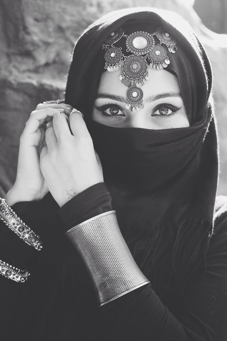 Tumblr Photography Girl Hijab Black And White